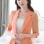 เสื้อสูทแฟชั่น เสื้อสูทสำหรับผู้หญิง พร้อมส่ง สีส้ม ผ้าคอตตอน 100 % เนื้อดี thumbnail 3