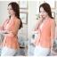 เสื้อสูทแฟชั่น เสื้อสูทสำหรับผู้หญิง พร้อมส่ง สีส้ม ผ้าคอตตอน 100 % เนื้อดี thumbnail 4