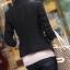 (พร้อมส่ง size S,M)เสื้อสูทแฟชั่น พร้อมส่ง มีปก แขนยาว สีดำ สวยเท่ห์ คัตติ้งดี งานเนี๊ยบ thumbnail 8
