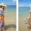 MAXI DRESS ชุดเดรสยาว พร้อมส่ง พิมพ์ลายดอกไม้สีสัน ผ้าชีฟอง เนื้อดี ใส่สบาย มีซับใน สายเดี่ยวเซ็กซี่ thumbnail 9