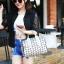 กระเป๋าสะพายข้างผู้หญิงสีเมทัลลิค Fashion Lady thumbnail 7