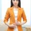 เสื้อสูทแฟชั่น พร้อมส่ง สีส้มอิฐ แขนยาว คอปก คัตติ้งดี งานเนี๊ยบ สวยเหมือนแบบ ติดกระดุมเม็ดเดียวเก๋ thumbnail 1