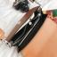 กระเป๋าสะพายข้างผู้หญิง Leather around สีดำ thumbnail 13