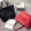 กระเป๋าสะพายข้างใบใหญ่ Leather woman (Red) thumbnail 13