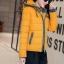 เสื้อโค้ทแฟชั่น พร้อมส่ง สีเหลือง ดีเทลตัดสีด้วยสีเทาช่วงแขนจั๊มและซิบรูด แต่งลายช่วงฮูทสุดเท่ห์ thumbnail 3