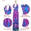 maxi dress ชุดเดรสยาว พร้อมส่ง สีฟ้า คอวีลึก สายคล้องคอผูกโบว์ ลายดอกไม้สีชมพูหวาน thumbnail 9