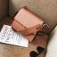 กระเป๋าสะพายข้างผู้หญิง Leather around สีน้ำตาล thumbnail 5