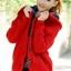 เสื้อกันหนาวไหมพรม พร้อมส่ง สีแดง ลายไหมพรมถัก มีฮูท ด้านในเป็นขนสัตว์สังเคราะห์ เนื้อนิ่ม น่ารักๆ thumbnail 3