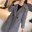 เสื้อโค้ทแฟชั่น Overcoat พร้อมส่ง สีเทา ตัวยาว คอปก สุดเท่ห์ Overcoat แนวดาราซีรี่เกาหลีใส่กันเลยนะคะ กระดุมหน้าเก๋ คัตติ้งสวย เนื้อผ้าดีมากค่ะ thumbnail 6