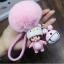 พวงกุญแจ ขนฟู รุ่น Baby doll สีชมพู 02 thumbnail 1