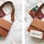กระเป๋าสะพายข้างผู้หญิง Leather around สีน้ำตาล thumbnail 2