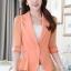 เสื้อสูทแฟชั่น เสื้อสูทสำหรับผู้หญิง พร้อมส่ง สีส้ม ผ้าคอตตอน 100 % เนื้อดี thumbnail 1