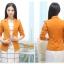 เสื้อสูทแฟชั่น พร้อมส่ง สีส้มอิฐ แขนยาว คอปก คัตติ้งดี งานเนี๊ยบ สวยเหมือนแบบ ติดกระดุมเม็ดเดียวเก๋ thumbnail 5