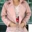 เสื้อแจ็คเก็ต เสื้อหนังแฟชั่น พร้อมส่ง สีชมพู หนังเงา แบบเท่ห์ๆ อินเทรนด์ สไตล์เกาหลี thumbnail 7