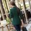 เสื้อสูทแฟชั่น เสื้อสูทตัวยาว พร้อมส่ง สีเขียวขี้ม้า คอปก แขนยาว ตัวยาวคลุมสะโพก ติดกระดุมเม็ดเดียวเก๋ thumbnail 7