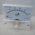 Panel meter 100uA สำหรับการทดลองต่าง ๆ
